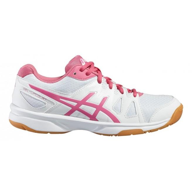 Chaussure squash Asics Gel UpCourt White / Pink | My-squash.com