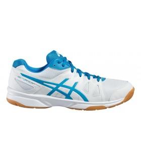 Chaussure squash Asics Gel UpCourt Blanche / Bleue| My-squash.com