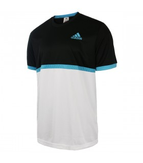 Adidas B court tee Junior Black /White | My-squash.com