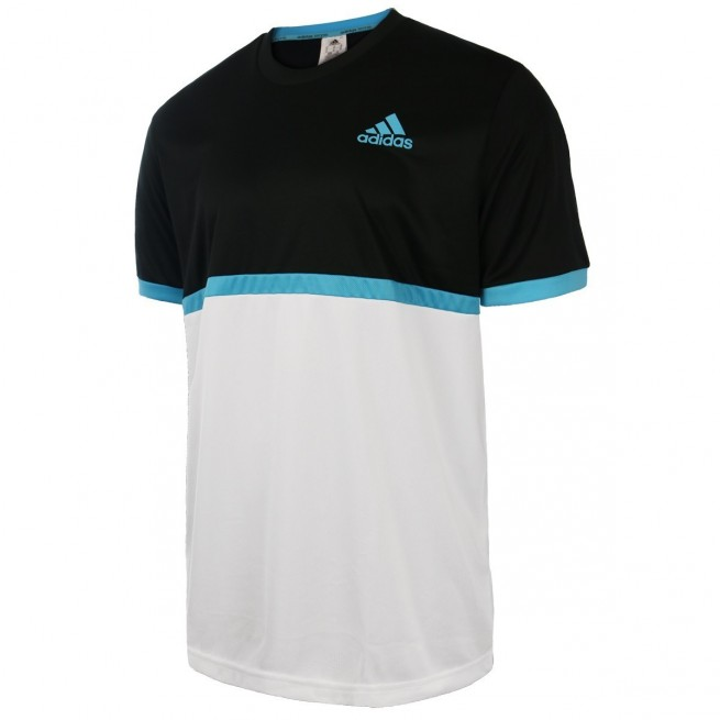 Adidas B court tee Junior Noir /Blanc | My-squash.com