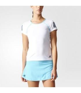 Adidas Club Tee Women White/ Blue | My-squash.com