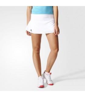 Adidas Club Skirt Femmes Blanc/ Noir | My-squash.com