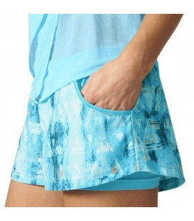 Adidas Melbourn Short Girl Blue | My-squash.com