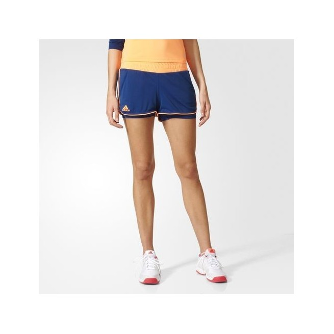 Adidas Court girl squash short - Mystery Blue & Glow Orange   My ...