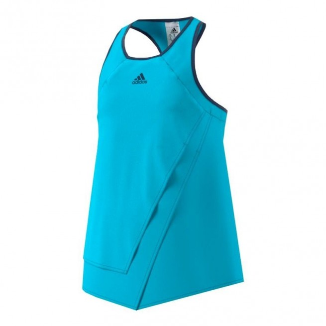 Adidas Court Tank Fille Bleu |My-squash.com