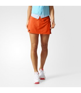 Adidas Club Skirt Femme Orange | My-squash.com