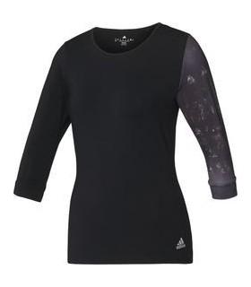 Adidas Essex 3/4 Tee Femmes Noir/ Blanc | My-squash.com