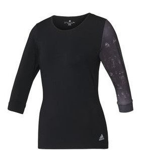 Adidas Essex 3/4 Tee Femmes (Black/White)