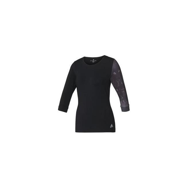 Adidas Essex 3/4 Tee Femmes Black/ White|My-squash.com