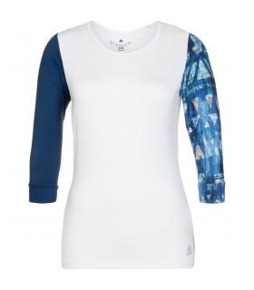 Adidas Essex 3/4 Tee Femme Blanc | My-squash.com