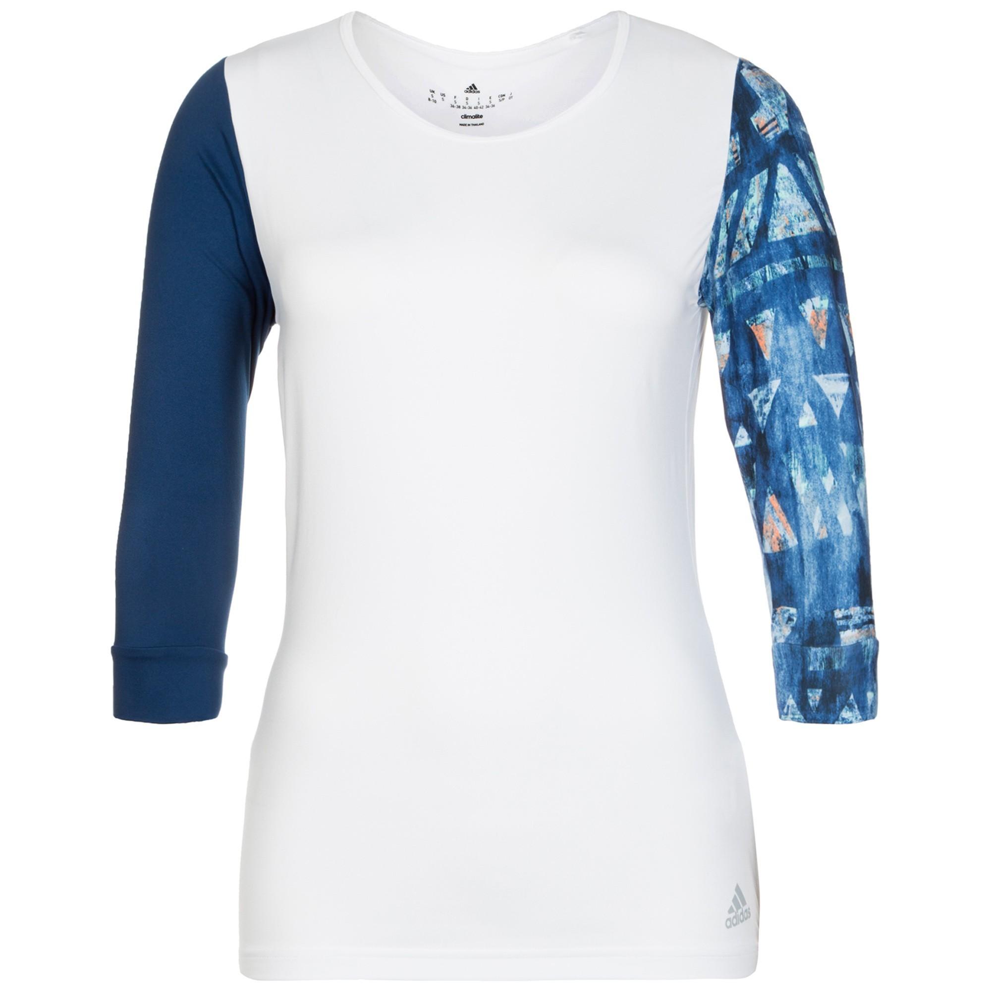 T shirt adidas white - Women S Squash T Shirt Adidas Essex Tee White Blue My Squash Com