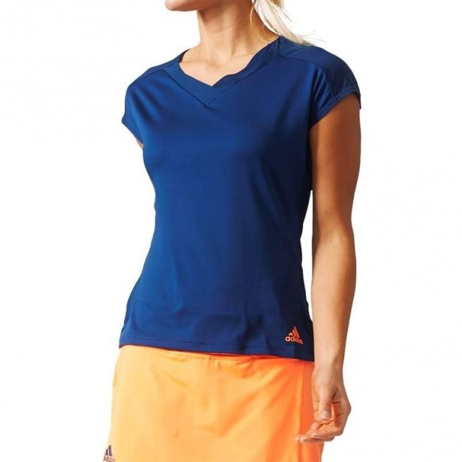 Adidas Melbourne Tee Femme Bleu | My-squash.com
