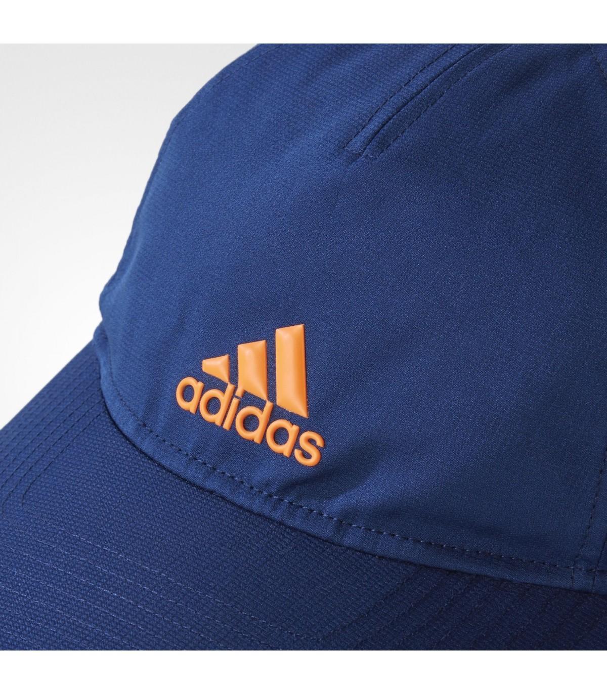 4413e2f935e3 Casquette de squash Adidas Climacool - Mystery Blue   Glow Orange ...