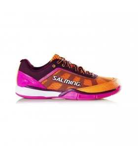 Salming Viper 4.0 Purple / Orange Squash shoes | My-squash.com