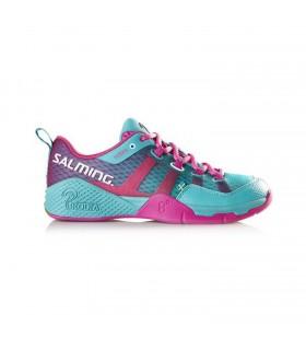 Salming Kobra Diva Pink / Turquoise Squash shoes | My-squash.com