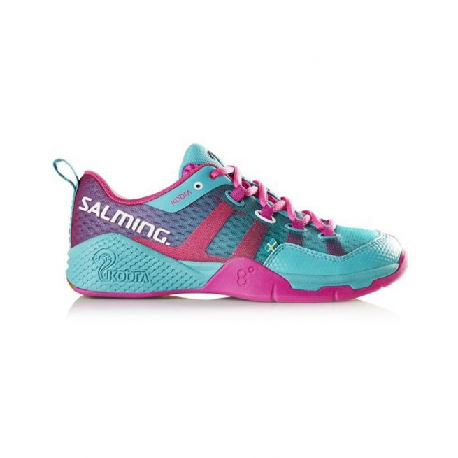 Chaussure squash Salming Kobra Turquoise / Pink | My-squash.com