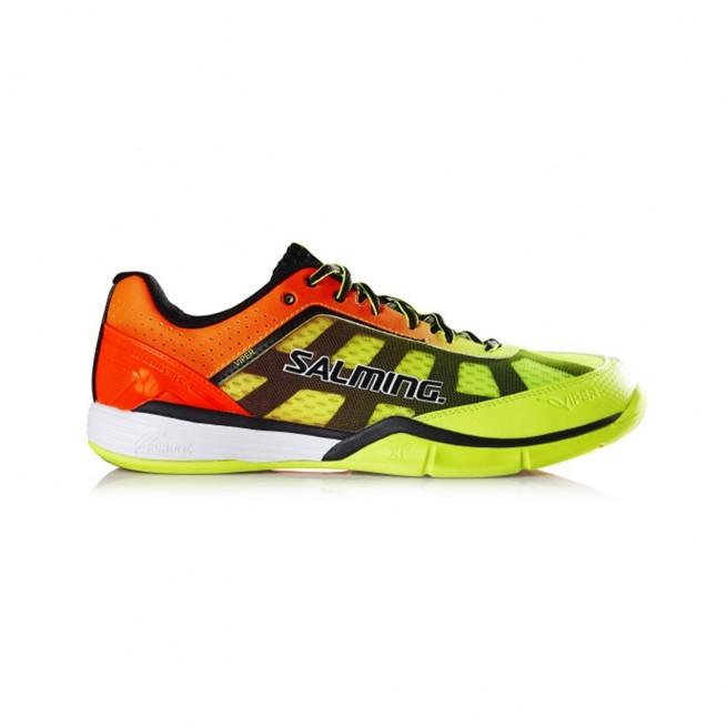 Salming Viper 4 Yellow / Orange Squash shoes | My-squash.com