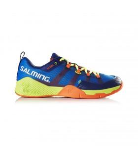 Salming Kobra Yellow / Royal Blue Squash shoes  My-squash.com