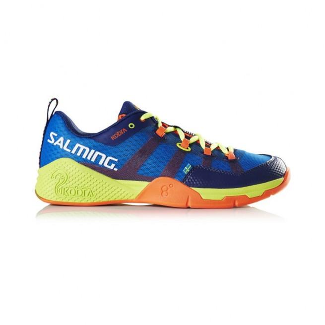 Salming Kobra Yellow / Royal Blue Squash shoes |My-squash.com