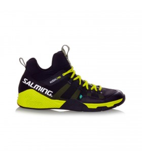 Salming Kobra Mid Black / Yellow Squash shoes | My-squash.com
