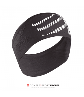 Compressport Compression Headband Black - Racket