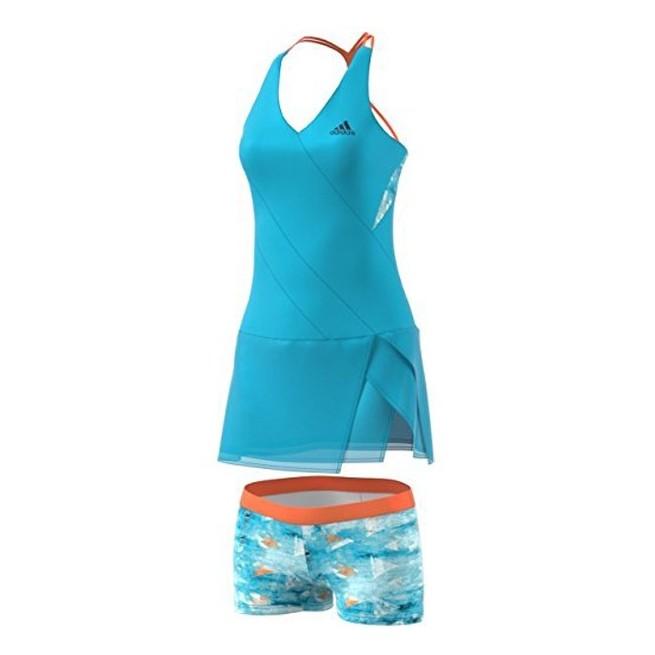 Adidas Robe Femme Melbourne Bleue | My-squash.com