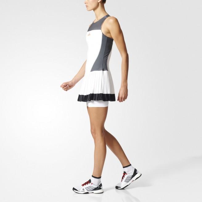 Adidas Robe Femme Barricade Blanc   My-squash.com