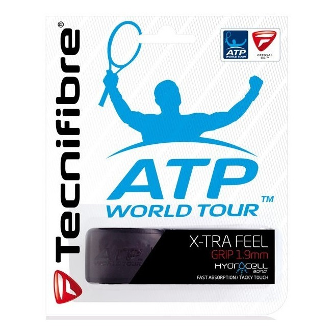Tecnifibre Squash X-tra Feel Grip Noir | My-squash.com
