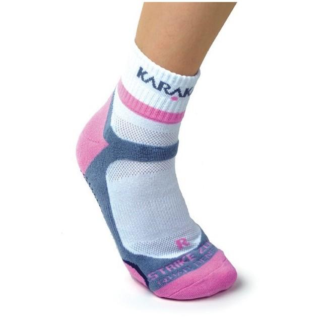 Karakal X4 ankle squash socks (White / Pink)