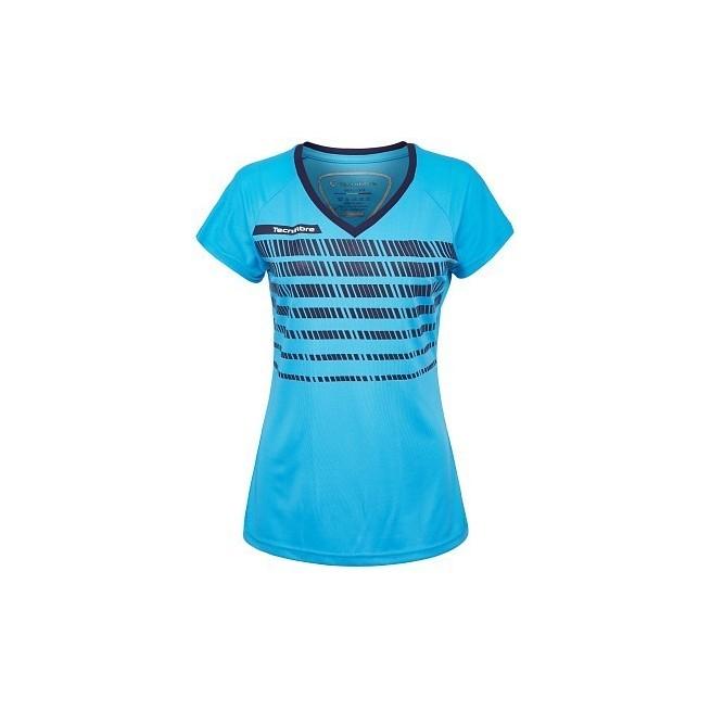 T-Shirt Femme Tecnifibre F2 Airmesh 360 Bleu | My-squash.com