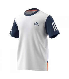 Adidas Club T-Shirt Men (White/ Mystery Blue)