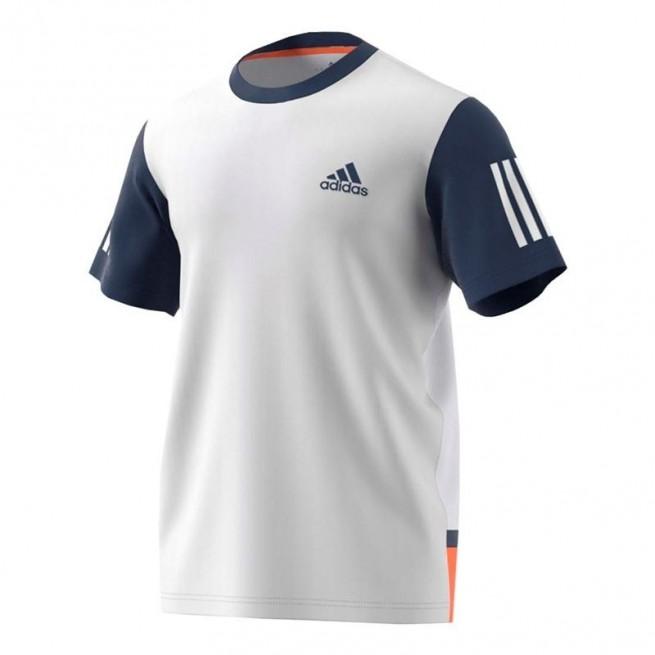 Adidas Club T-Shirt Men White /Blue |My-squash.com