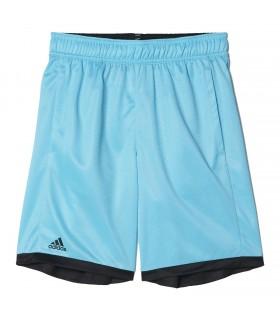 Adidas B court short Junior Samba Bleu/ Noir | My-squash.com