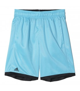 Adidas B court short Junior Samba Blue/ Black | My-squash.com