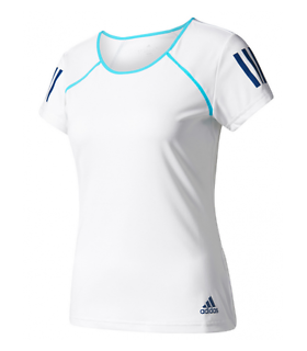 Adidas Club Tee Women (White/Blue)