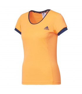 Adidas Court Tee Women (Glow orange / Mystery Blue)
