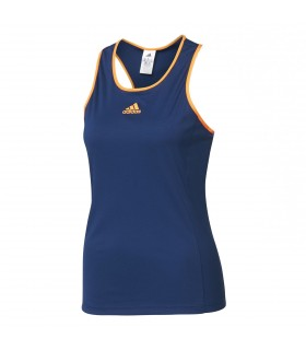 Adidas Court Tank Top Women (Mystery Blue/ Glow Orange)