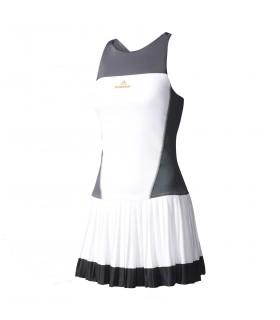 Adidas Robe Femme Barricade Blanc | My-squash.com