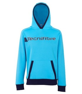 Tecnifibre Men Fleece Hoodie Azur | My-squash.com