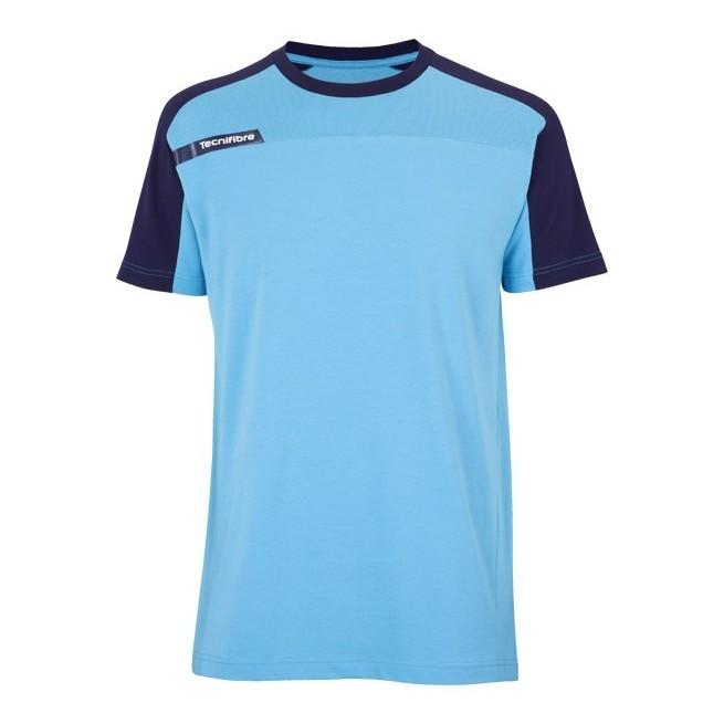 T-Shirt Tecnifibre F1 Men Stretch & Mesh Blue | My-squash.com