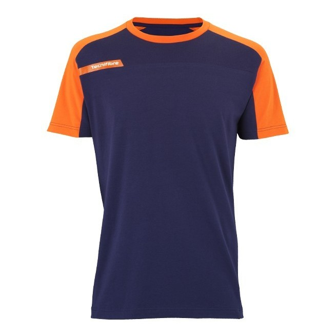 T-Shirt Homme Tecnifibre F1 Stretch & Mesh Bleu Marine | My-squash.com