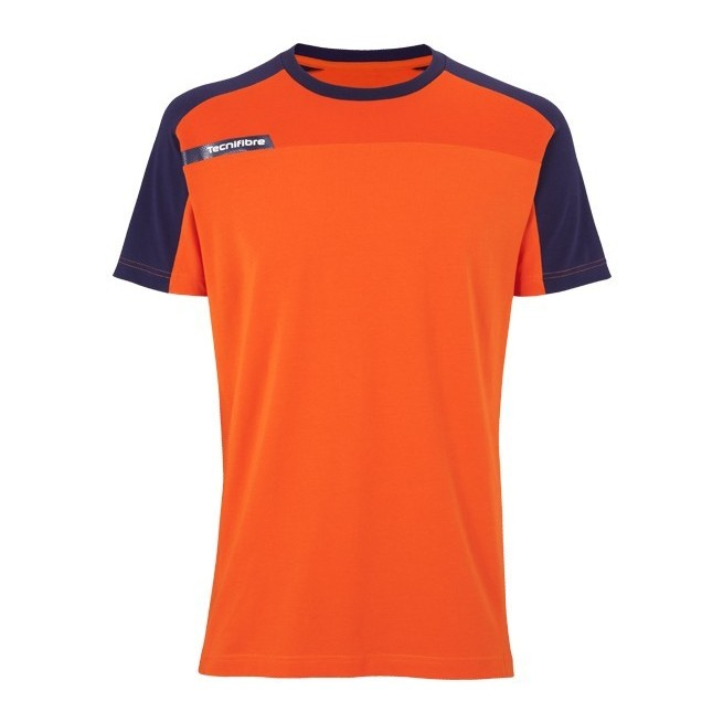T-Shirt Tecnifibre F1 Men Stretch & Mesh Orange | My-squash.com