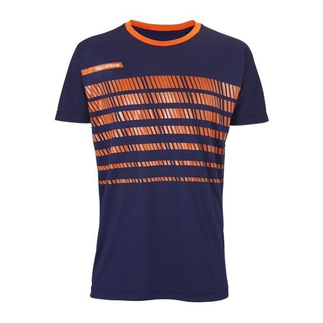 T-Shirt Homme Tecnifibre F2 Airmesh 360 Bleu Marine | My-squash.com