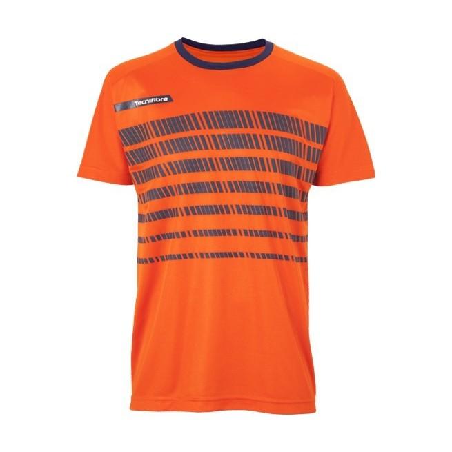 T-Shirt Homme Tecnifibre F2 Airmesh 360 Orange | My-squash.com