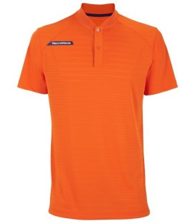 Tecnifibre F3 Men Ventstripe Polo Orange | My-squash.com