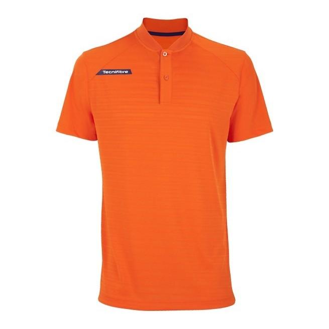 Polo Homme Tecnifibre F3 Ventstripe Orange | My-squash.com