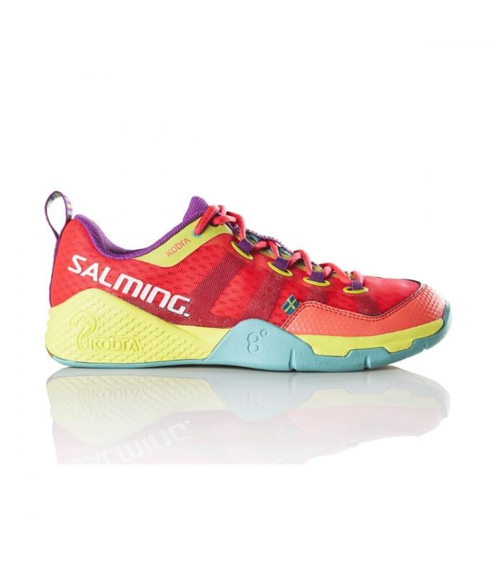 Salming Kobra Diva Pink/Turquoise Women squash shoes