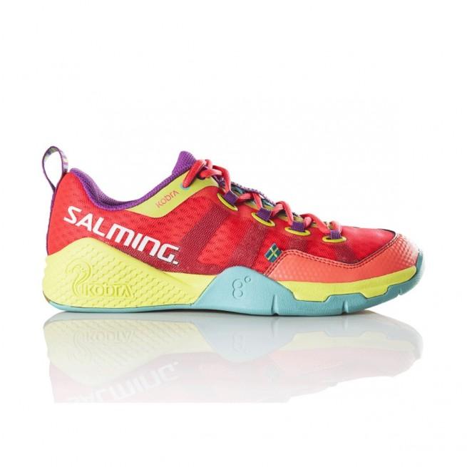 Salming Kobra Diva Pink Turquoise Squash shoes | My-squash.com