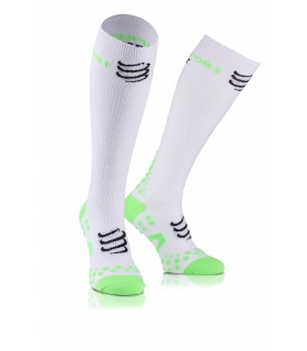 Compressport Play & DTox Full socks - Blanc - Racket