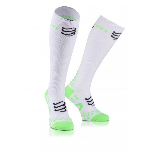 Compressport Play & DTox Full socks - Blanc - Racket